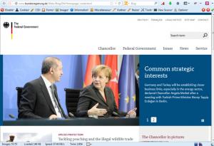 سایت دولتی آلمان با نشانی آلمانی